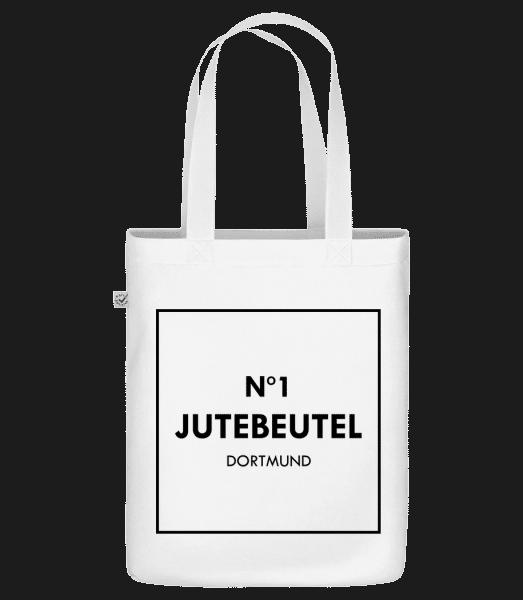 N1 Jutebeutel Dortmund - Bio Tasche - Weiß - Vorn