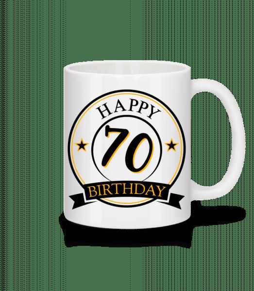Happy Birthday 70 - Mug - White - Vorn