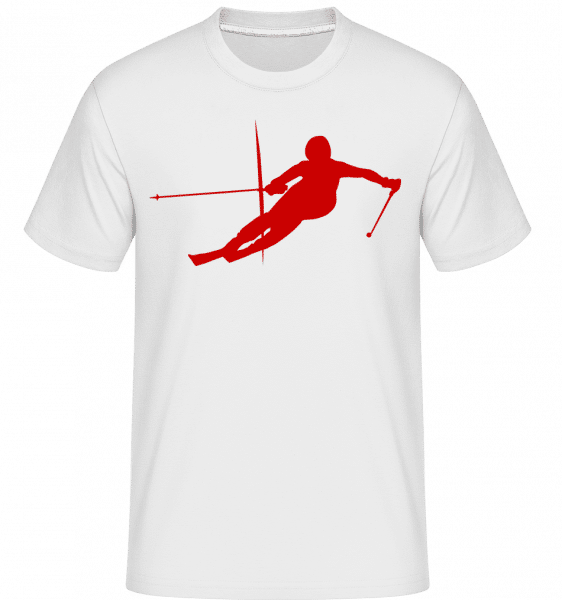 Skier -  Shirtinator Men's T-Shirt - White - Vorn