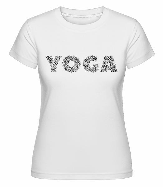 Yoga -  Shirtinator Women's T-Shirt - White - Vorn