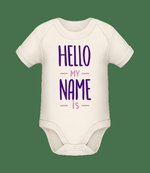 Hello My Name Is - Baby Bio Strampler - Creme - Vorn