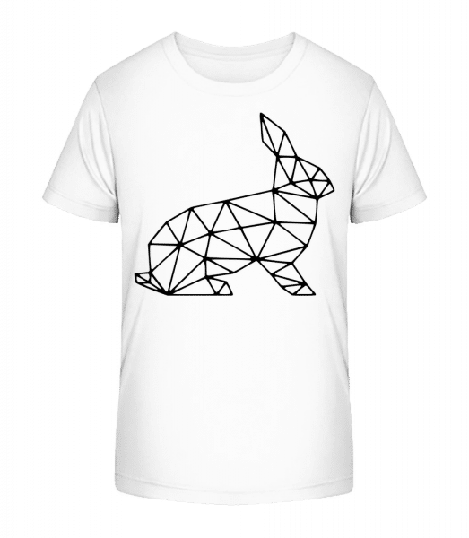 Polygon Rabbit - Kid's Premium Bio T-Shirt - White - Vorn