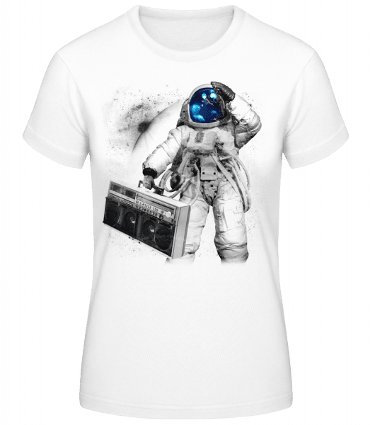 Ghettoblaster Astronaut - Women's Basic T-Shirt - White - Vorn