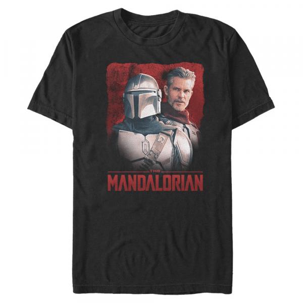 Mando and Cobb Mandalorian & the Marshal - Star Wars Mandalorian - Men's T-Shirt - Black - Front