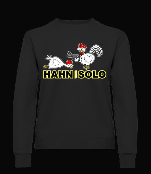 Hahn Wieder Solo - Frauen Pullover - Schwarz - Vorn