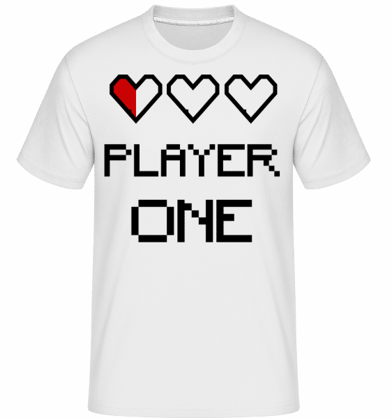 Player One - Shirtinator Männer T-Shirt - Weiß - Vorn