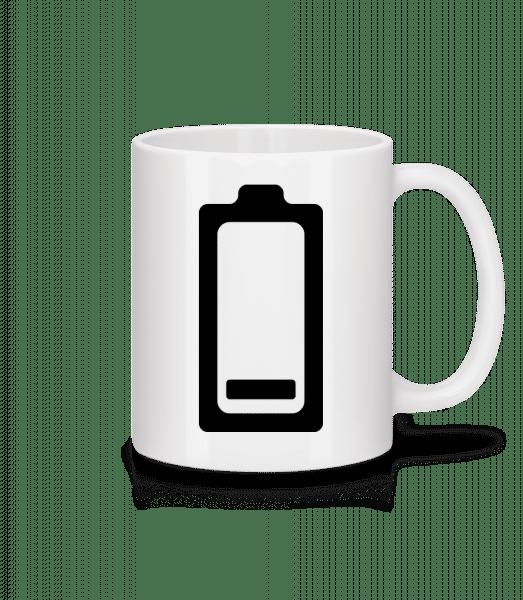 Akku Schwach Symbol - Tasse - Weiß - Vorn