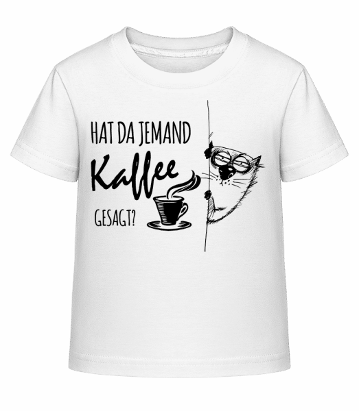 Kaffee Katze - Kinder Shirtinator T-Shirt - Weiß - Vorn