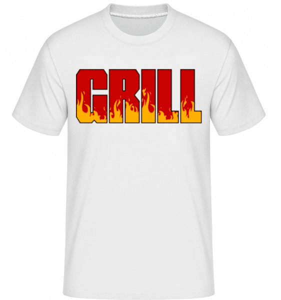 Grill -  Shirtinator Men's T-Shirt - White - Front