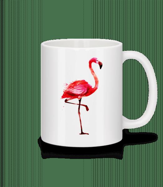 Flamingo - Tasse - Weiß - Vorn