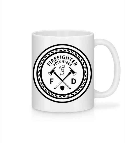 Firefighter - Mug - White - Vorn