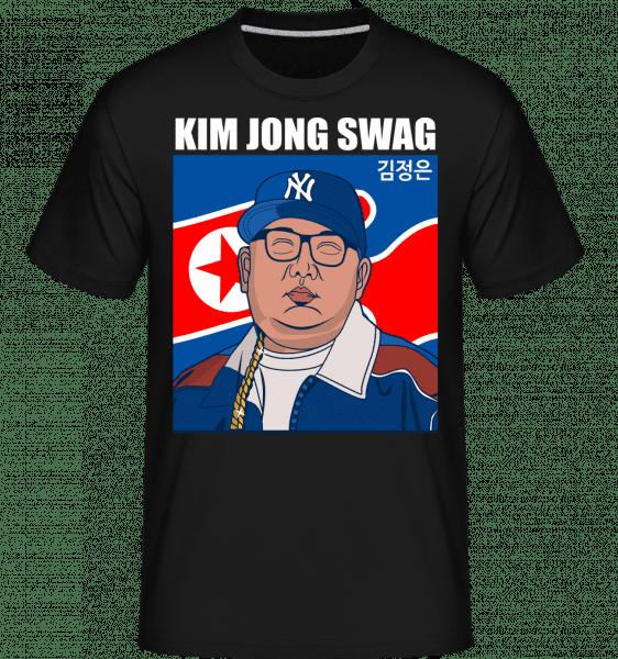 King Jong Swag -  Shirtinator Men's T-Shirt - Black - Front