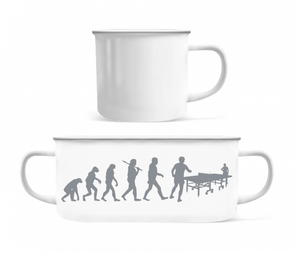 Evolution Of Table Tennis - Enamel-cup - White - Vorn