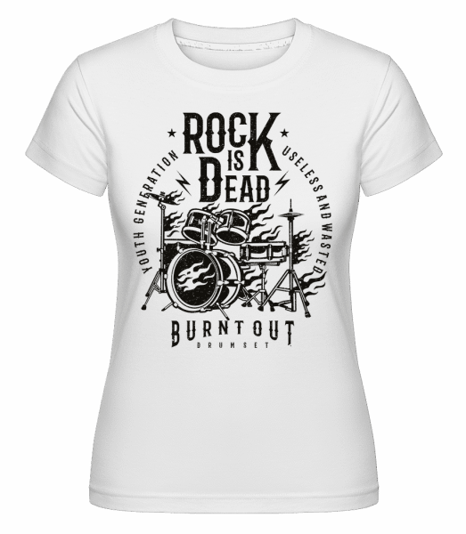 Rock Is Dead 2 -  Shirtinator Women's T-Shirt - White - Vorn