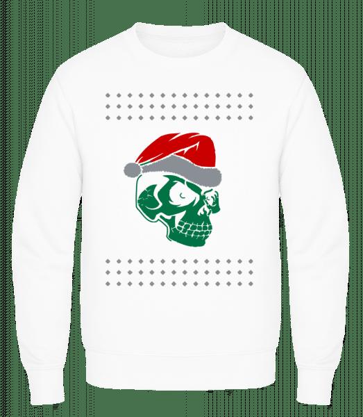 Skull Santa - Men's Sweatshirt AWDis - White - Vorn