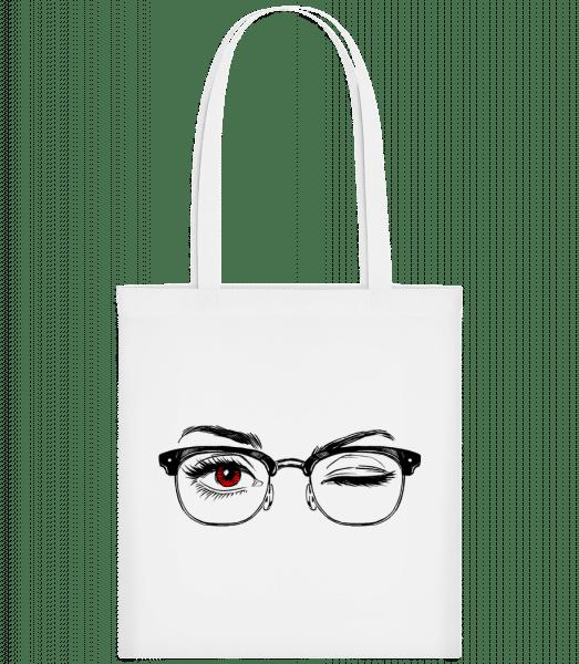 Hipster Eyes Red - Carrier Bag - White - Vorn