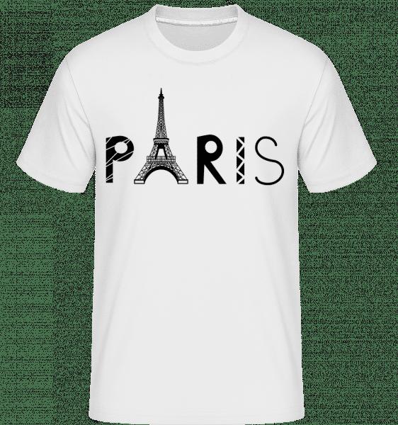 Paris France -  Shirtinator Men's T-Shirt - White - Vorn