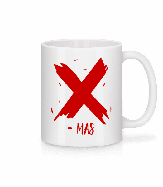 X - MAS - Mug - White - Vorn