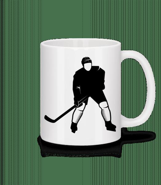 Ice Hockey Player - Keramický hrnek - Bílá - Napřed