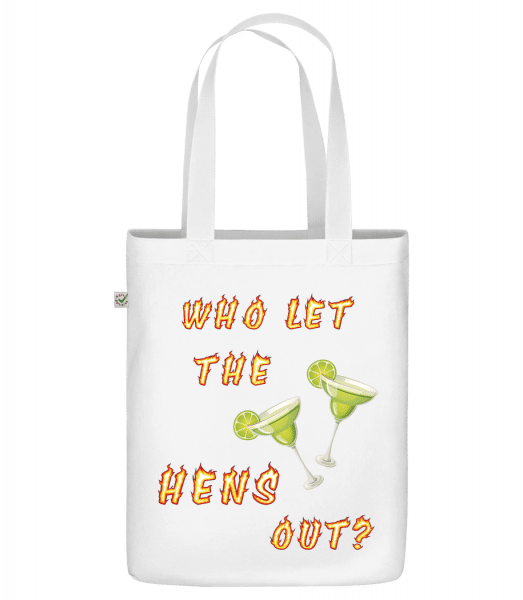 "Who Let The Hens Out? - Organic ""Earth Positive"" tote bag - White - Vorn"