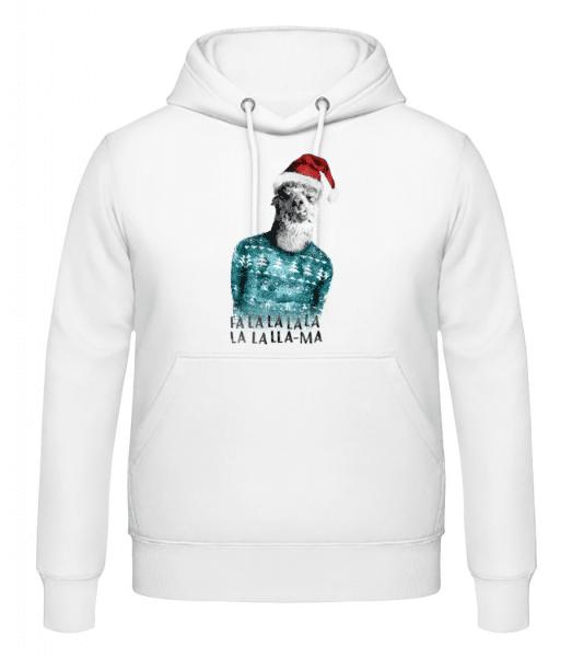 Christmas Lama - Men's Hoodie - White - Front