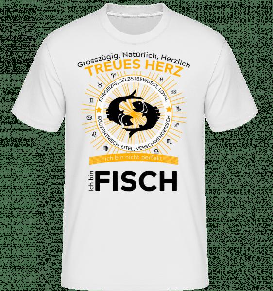 Sternzeichen Fische - Shirtinator Männer T-Shirt - Weiß - Vorn