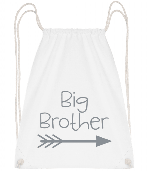 Big Brother - Drawstring Backpack - White - Vorn