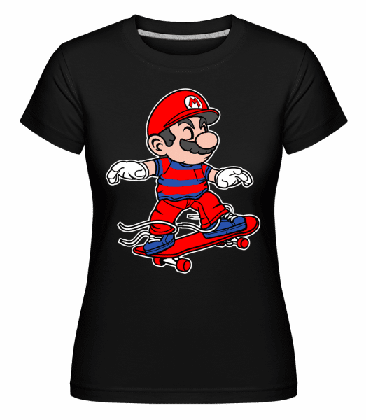 Mario Skateboard -  Shirtinator Women's T-Shirt - Black - Vorn