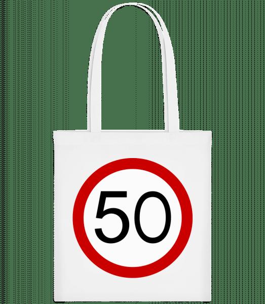 Verkehrsschild 50 - Carrier Bag - White - Vorn