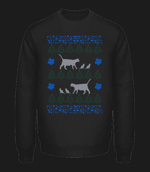 Vianočné Mačky - Unisex mikina - Čierna - Predné