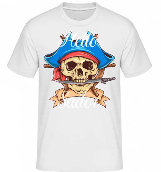 Hello Sailor -  Shirtinator Men's T-Shirt - White - Front