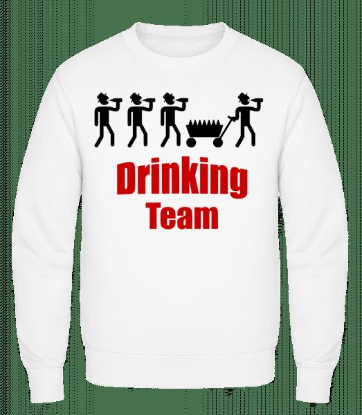 Drinking Team - Classic Set-In Sweatshirt - White - Vorn