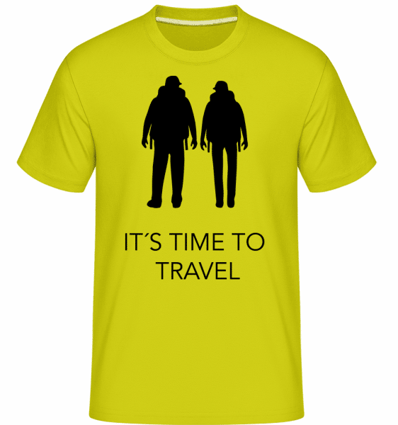 It's Time To Travel -  Shirtinator Men's T-Shirt - Apple green - Front
