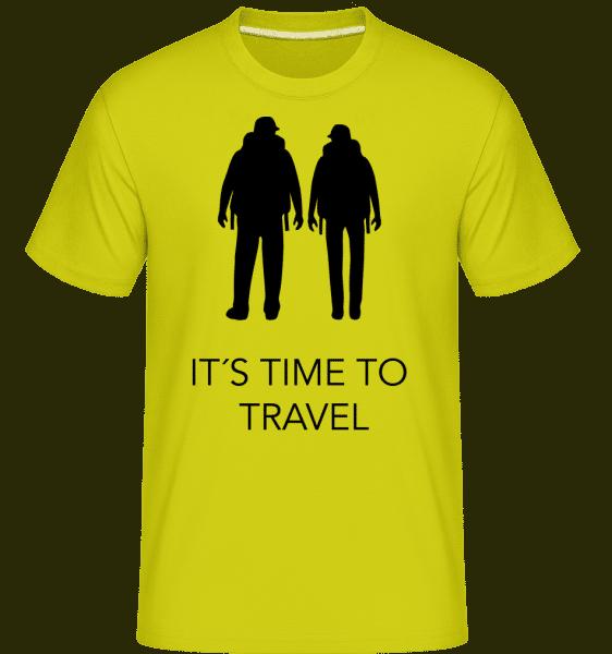 It's Time To Travel -  Shirtinator Men's T-Shirt - Apple green - Vorn