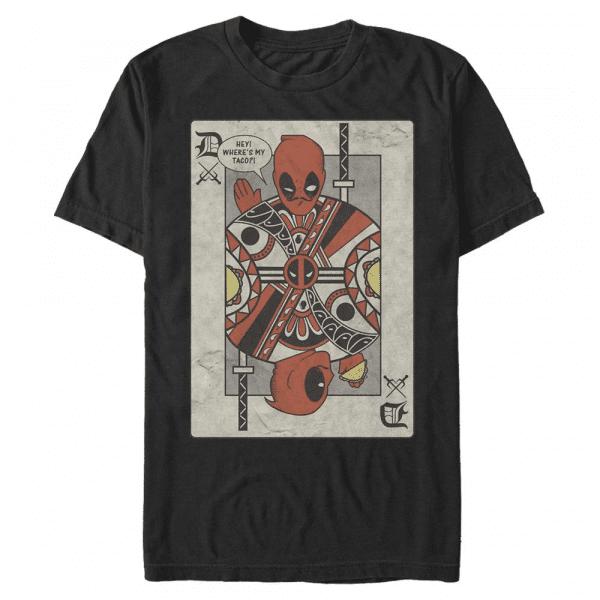 Deadpool Playing Card - Marvel - Men's T-Shirt - Black - Front
