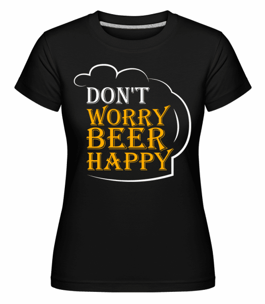 Beer Happy -  Shirtinator Women's T-Shirt - Black - Vorn
