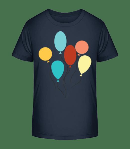 Many Balloons - Kid's Premium Bio T-Shirt - Navy - Front