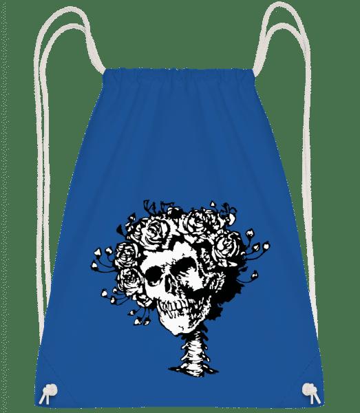 Skull Comic - Turnbeutel - Royalblau - Vorn