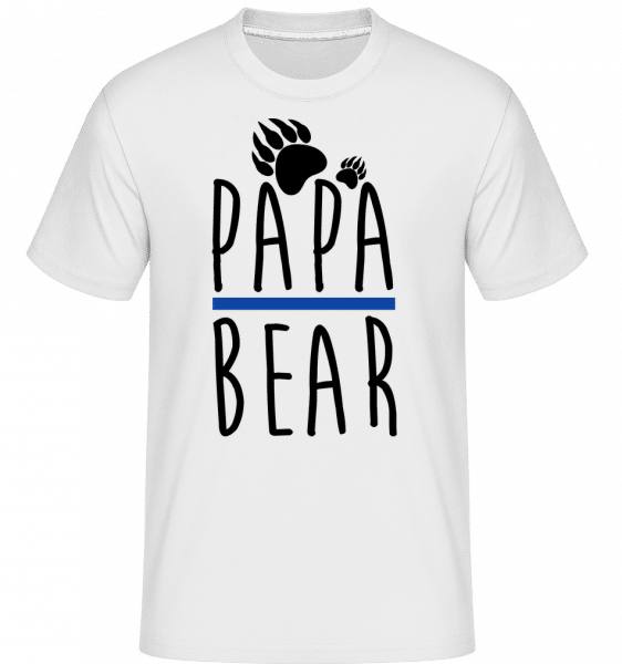 Papa Bear -  Shirtinator Men's T-Shirt - White - Vorn