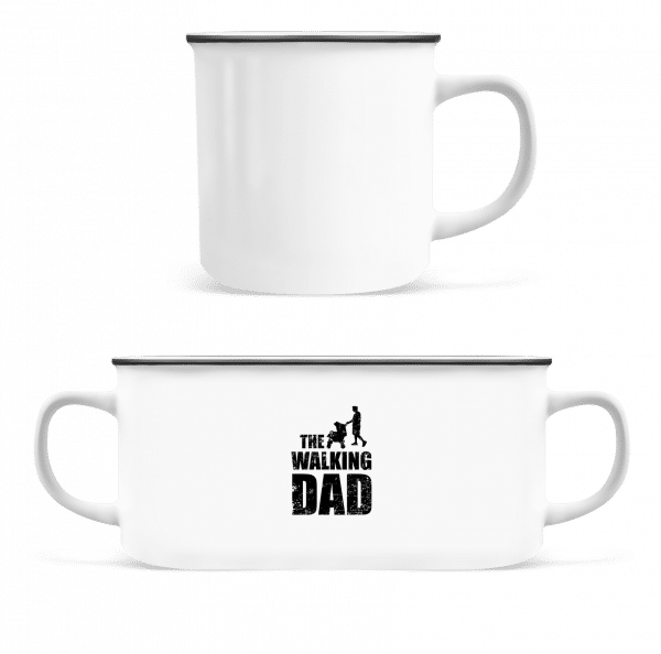 The Walking Dad - Enamel-cup - White - Front