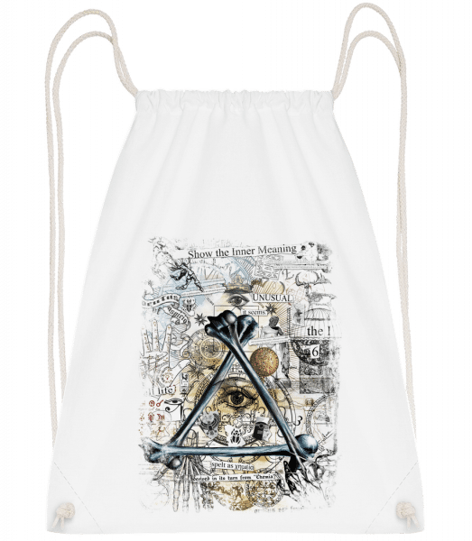 Show The Inner Meaning - Drawstring Backpack - White - Vorn