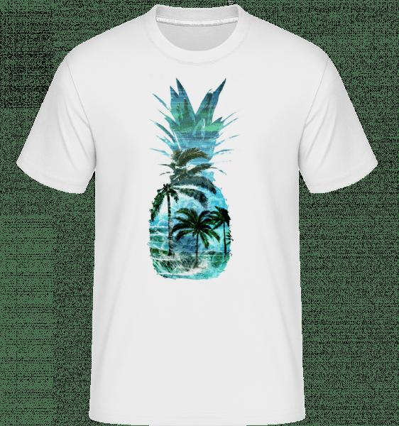 Pineapple Palms -  Shirtinator Men's T-Shirt - White - Vorn