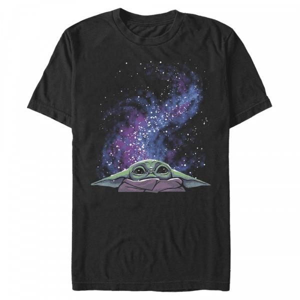 Galaxy Child Peek The Child - Star Wars The Mandalorian - Men's T-Shirt - Black - Front