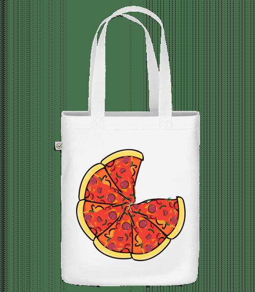 "Pizza - Organic ""Earth Positive"" tote bag - White - Vorn"