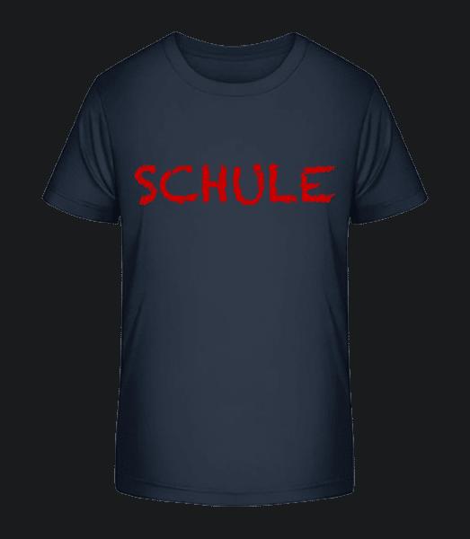 Schule - Kinder Premium Bio T-Shirt - Marine - Vorn