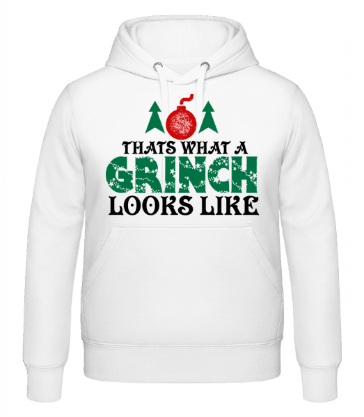 What A Grinch Looks Like - Kapuzenhoodie - Weiß - Vorn