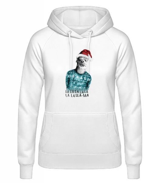 Christmas Lama - Women's Hoodie - White - Front