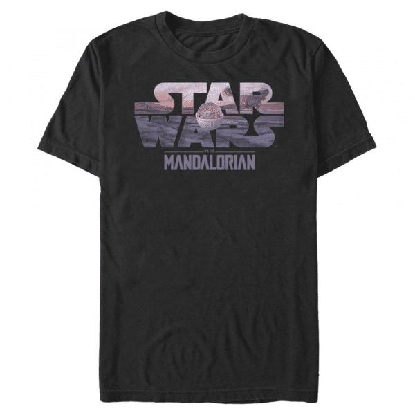 Child Logo Fill The Child - Star Wars Mandalorian - Men's T-Shirt - Black - Front