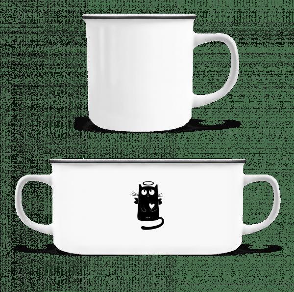 Angel Cat - Enamel-cup - White - Vorn