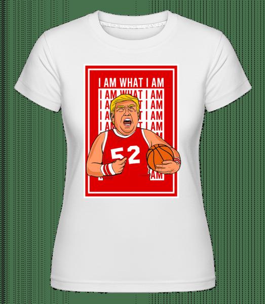 Trump Basketball -  Shirtinator Women's T-Shirt - White - Vorn